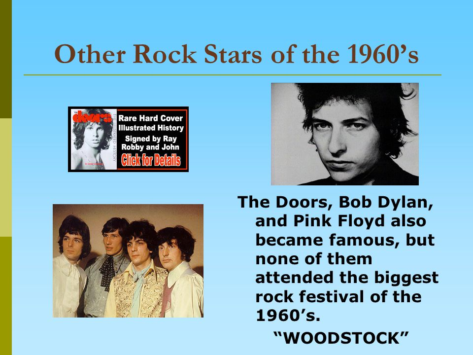 Other Rock Stars of the 1960's