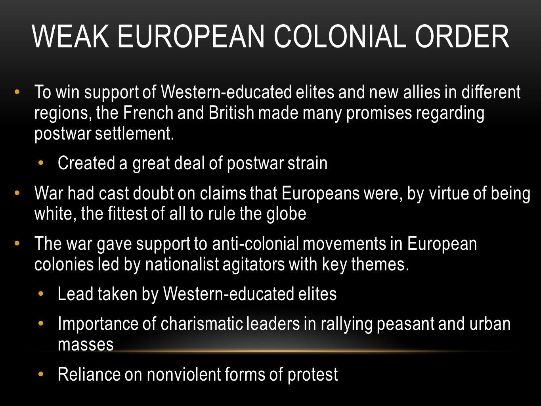 Weak European Colonial Order