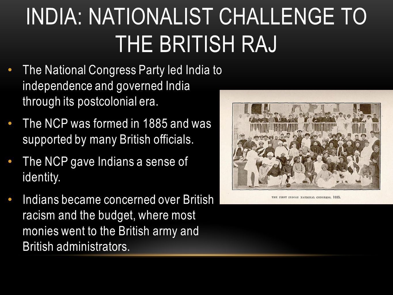 India: Nationalist challenge to the British Raj