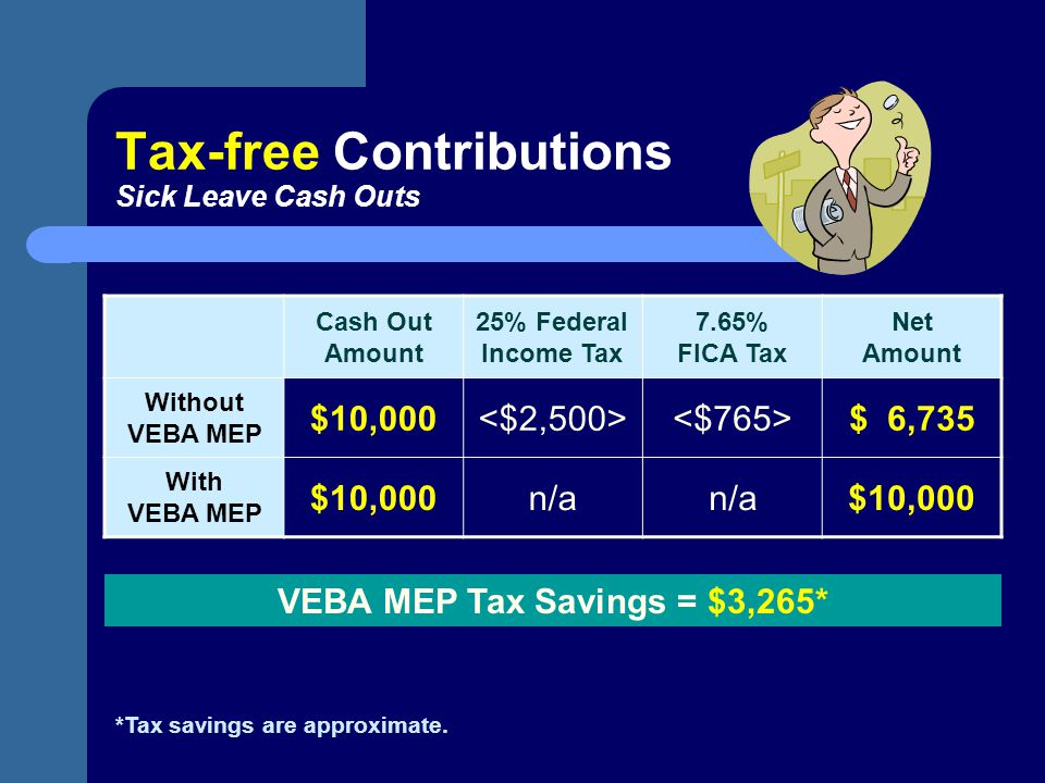 Tax-free Contributions Sick Leave Cash Outs