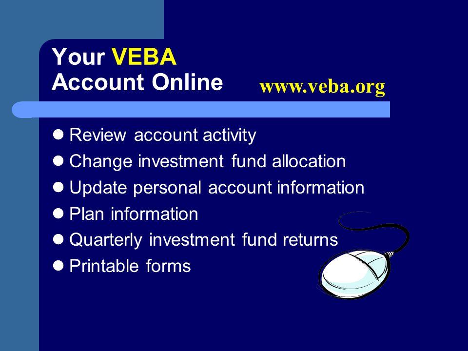Your VEBA Account Online