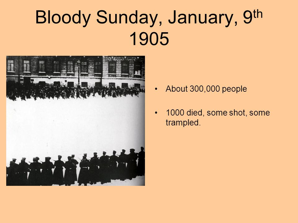 Bloody Sunday, January, 9th 1905