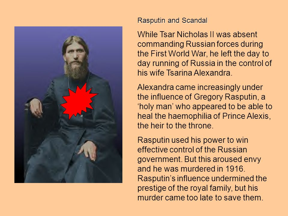 Rasputin and Scandal