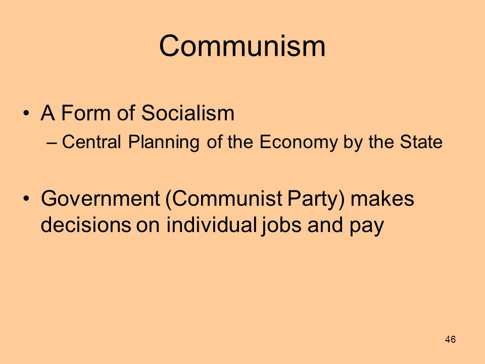 Communism A Form of Socialism