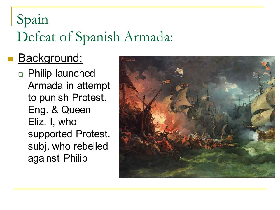 Spain Defeat of Spanish Armada: