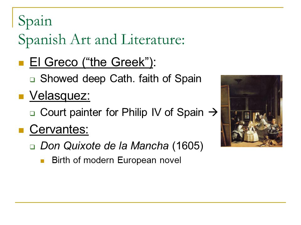 Spain Spanish Art and Literature: