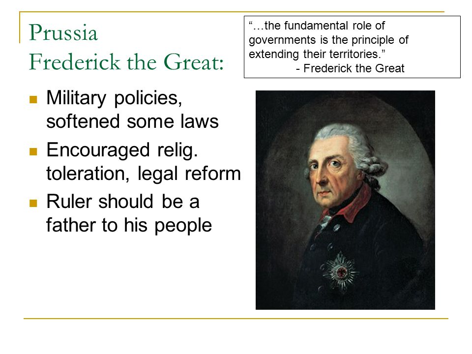 Prussia Frederick the Great: