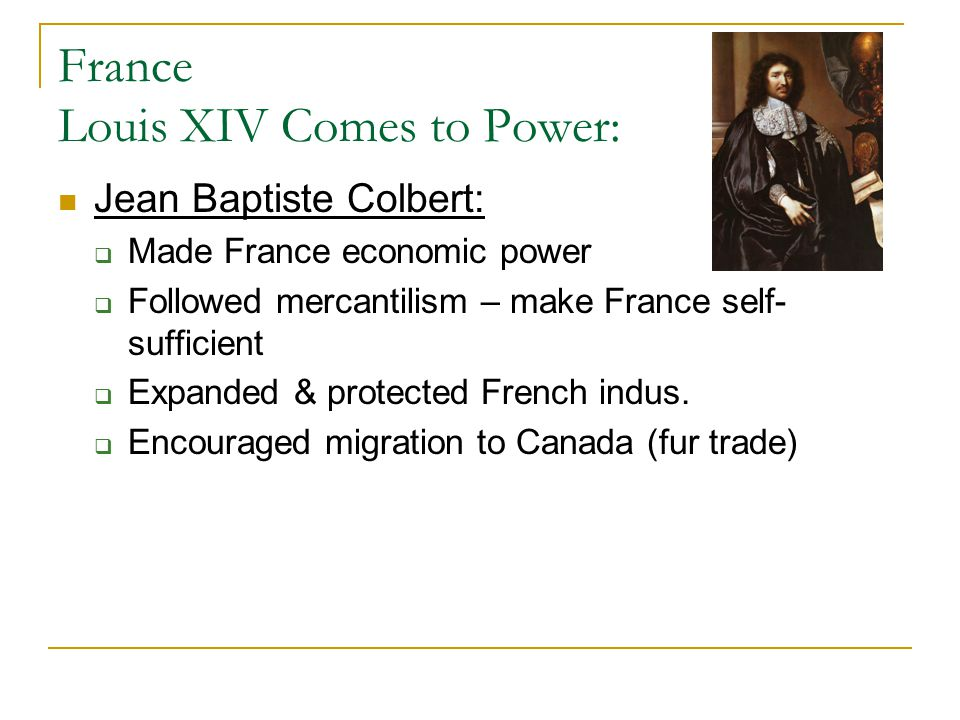France Louis XIV Comes to Power: