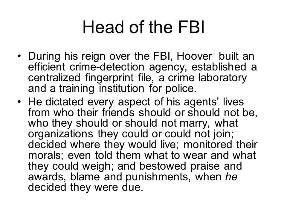 Head of the FBI
