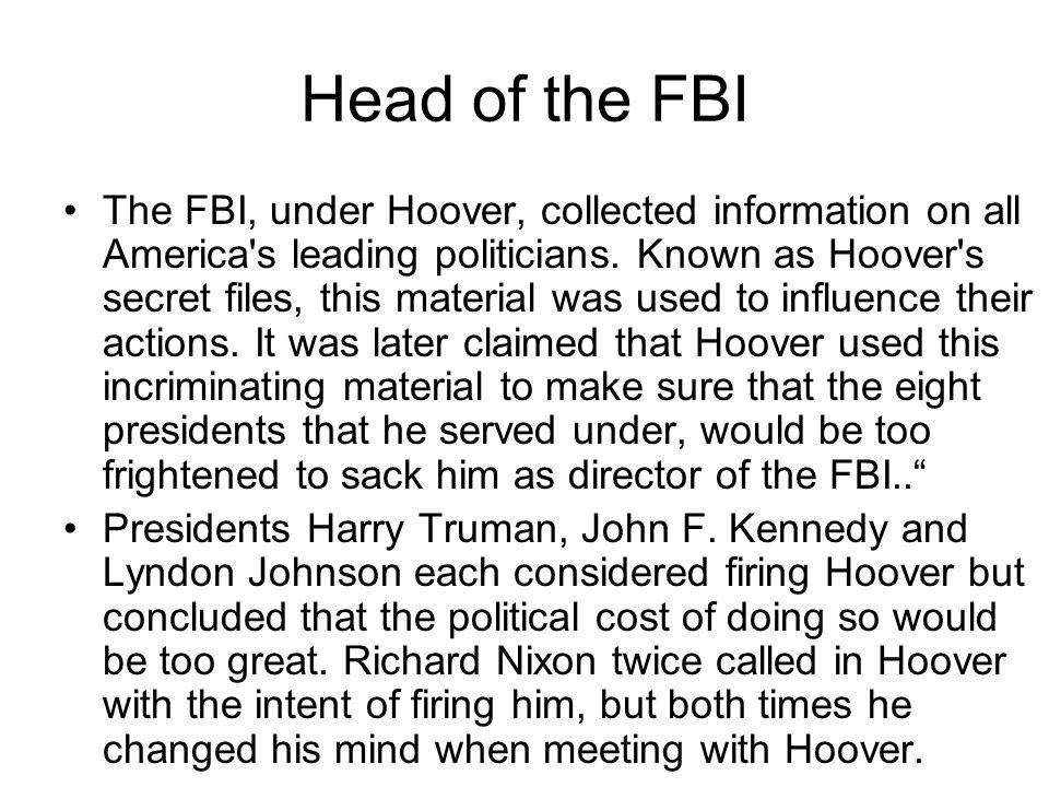 Head of the FBI