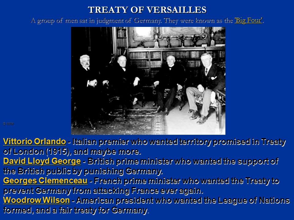 Interpretation: Treaty of Versailles