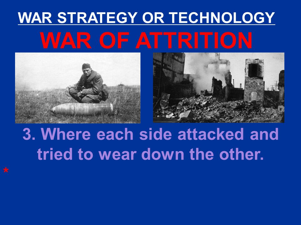 WAR STRATEGY OR TECHNOLOGY