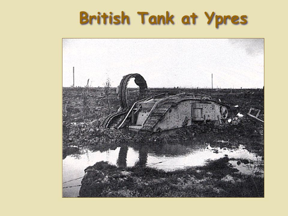 British Tank at Ypres