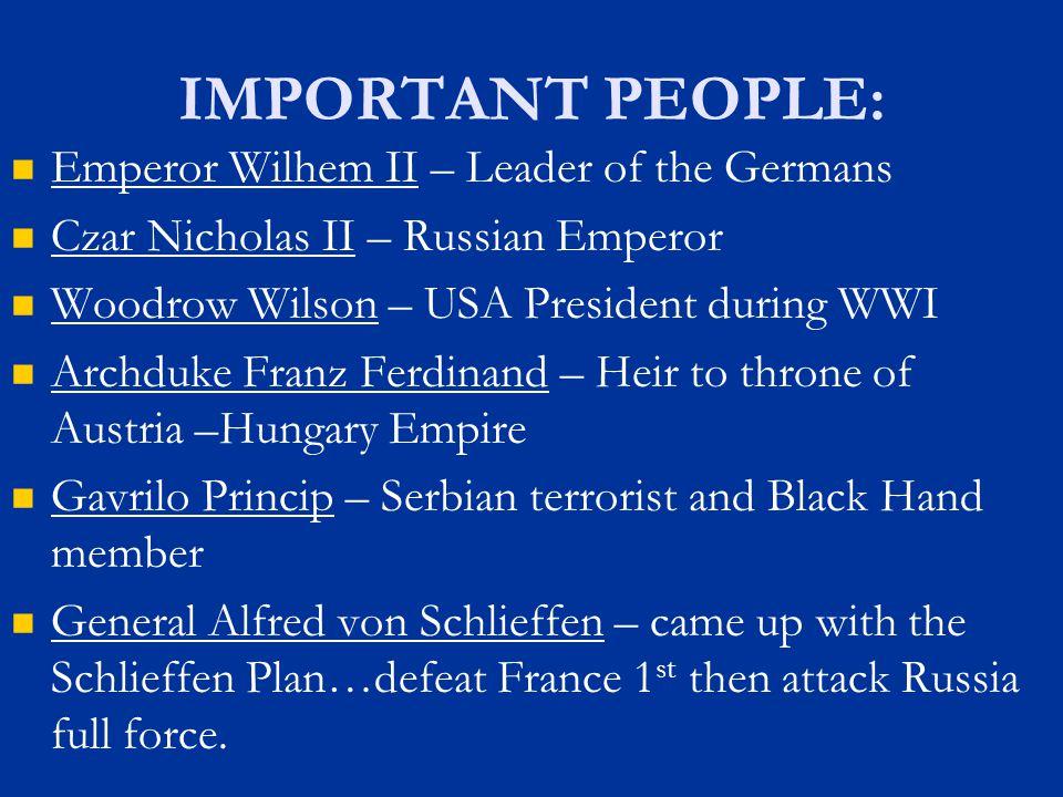 IMPORTANT PEOPLE: Emperor Wilhem II – Leader of the Germans
