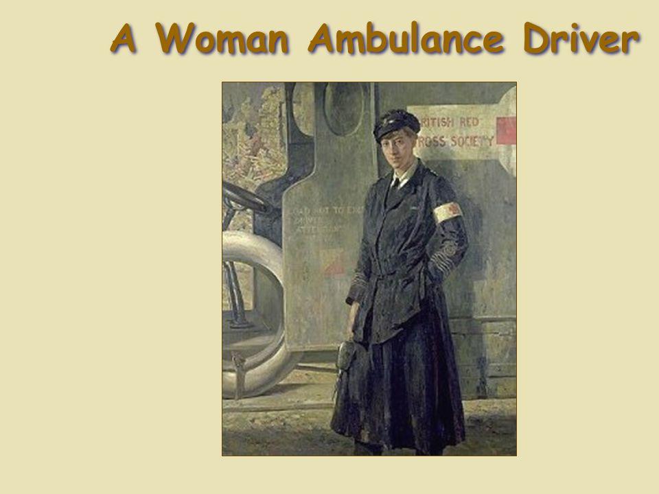 A Woman Ambulance Driver