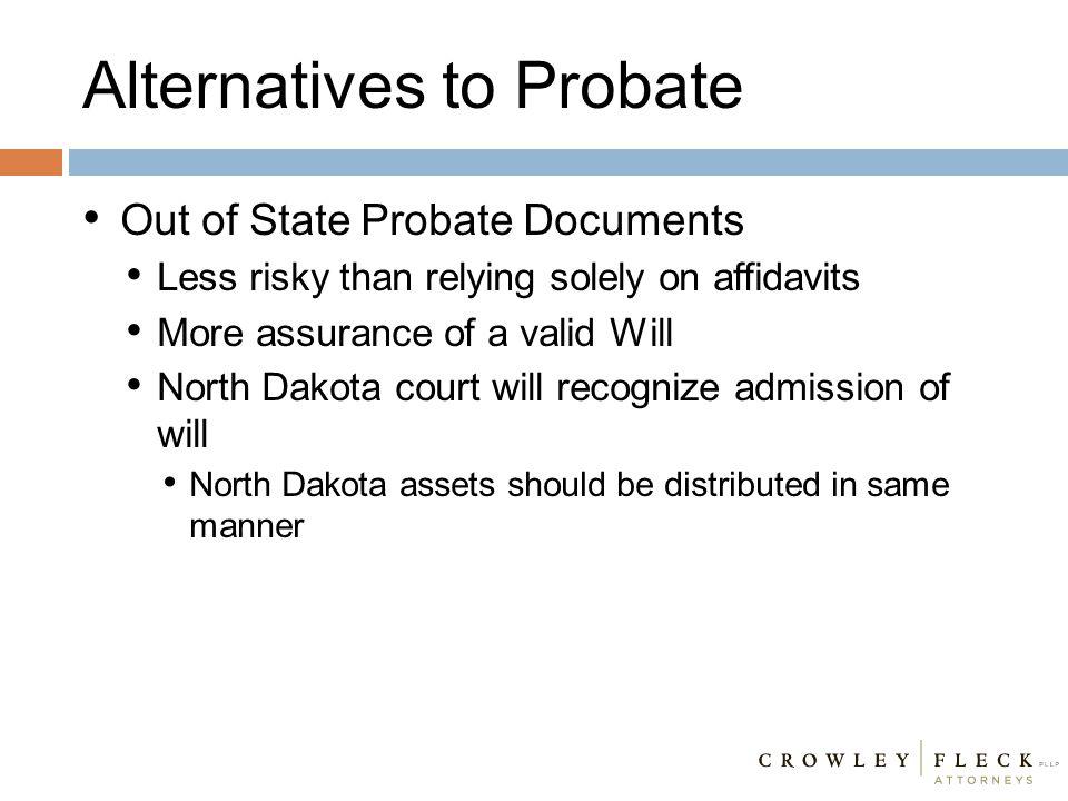 Alternatives to Probate