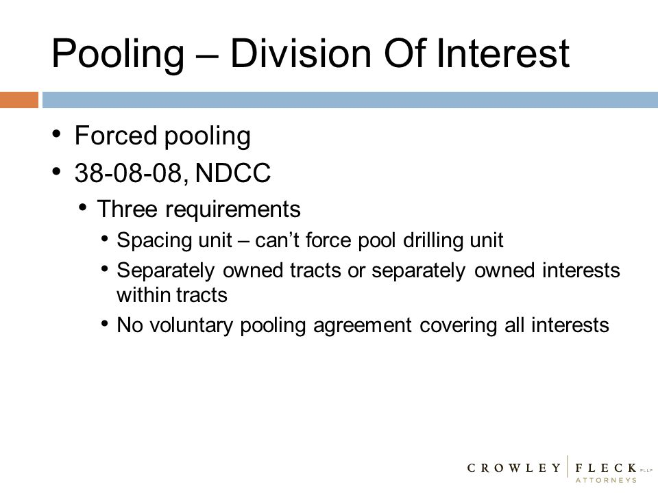 Pooling – Division Of Interest