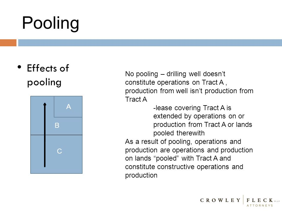 Pooling Effects of pooling