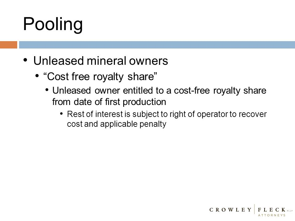 Pooling Unleased mineral owners Cost free royalty share