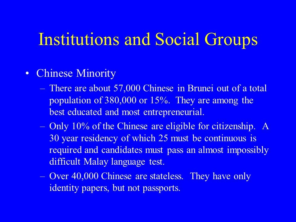 Institutions and Social Groups