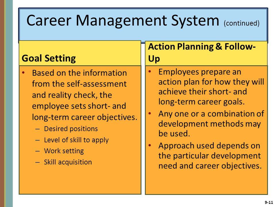 Career Management System (continued)