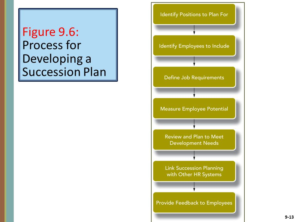 Figure 9.6: Process for Developing a Succession Plan