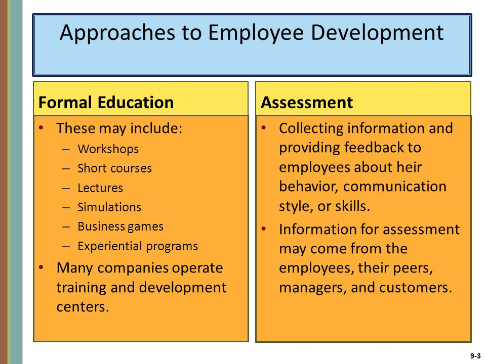 Approaches to Employee Development