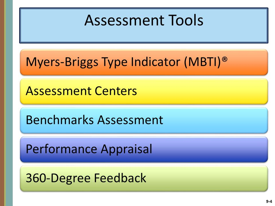Assessment Tools Myers-Briggs Type Indicator (MBTI)®