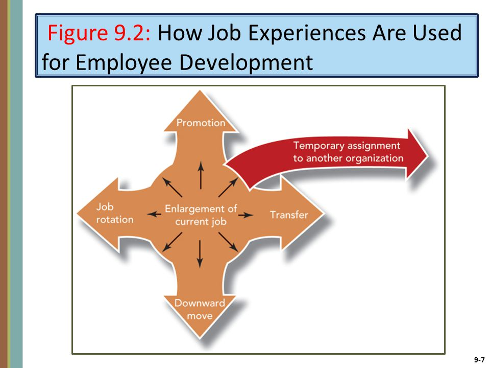 Figure 9.2: How Job Experiences Are Used for Employee Development