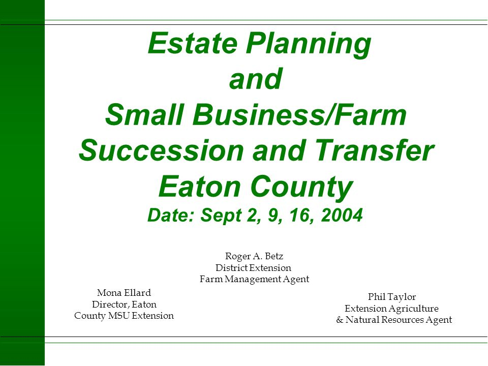 5 Things Estate Planning Can Do for You and Your Business