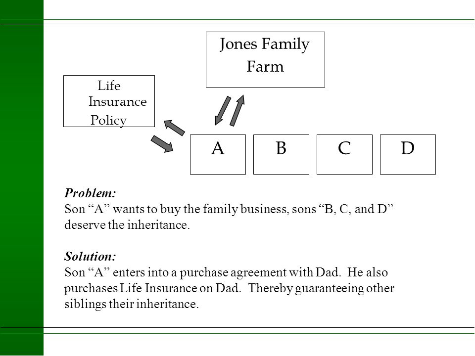 A B C D Jones Family Farm Life Insurance Policy Problem: