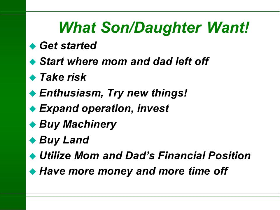 What Son/Daughter Want!