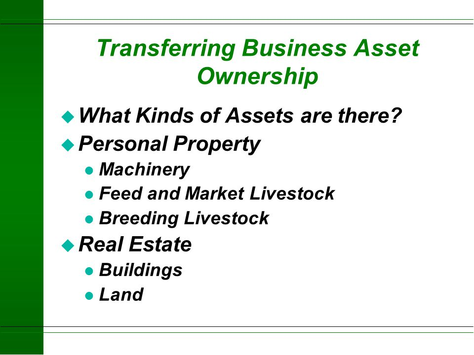 Transferring Business Asset Ownership