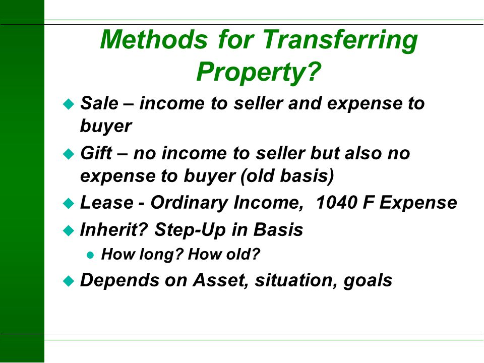 Methods for Transferring Property