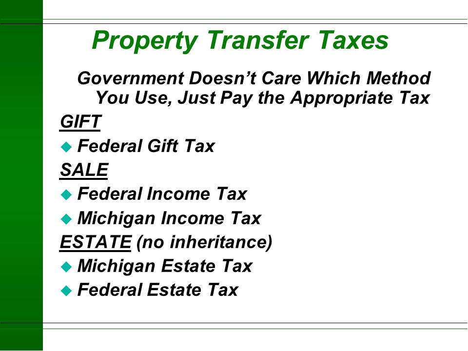 Property Transfer Taxes