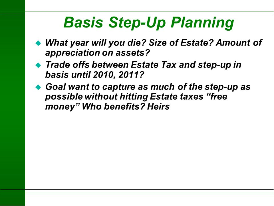 Basis Step-Up Planning