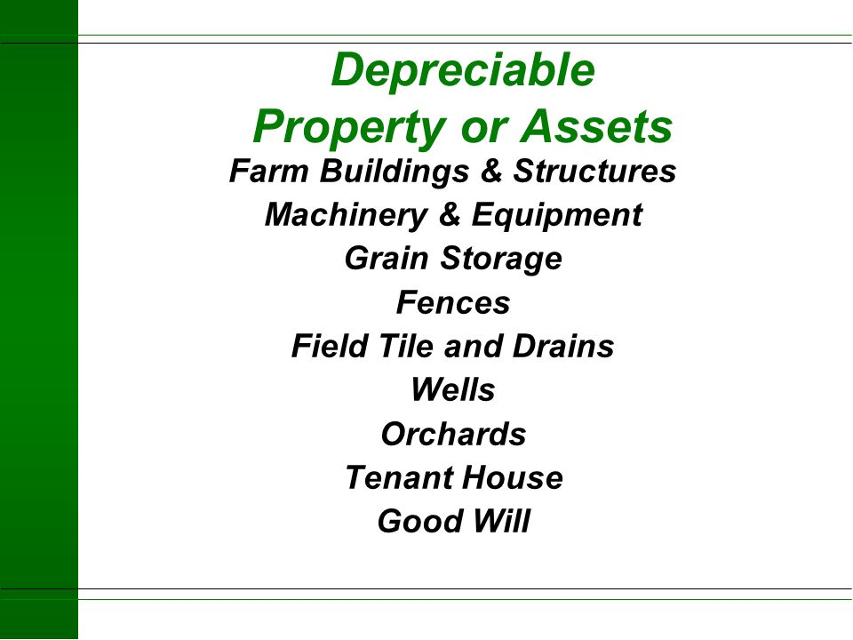 Depreciable Property or Assets