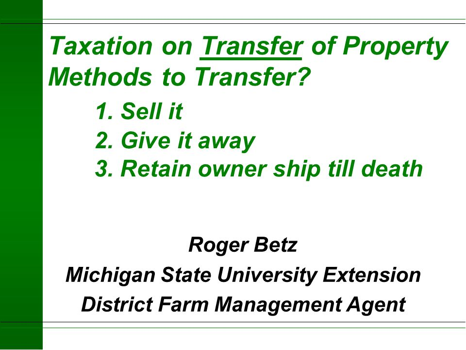 Michigan State University Extension District Farm Management Agent