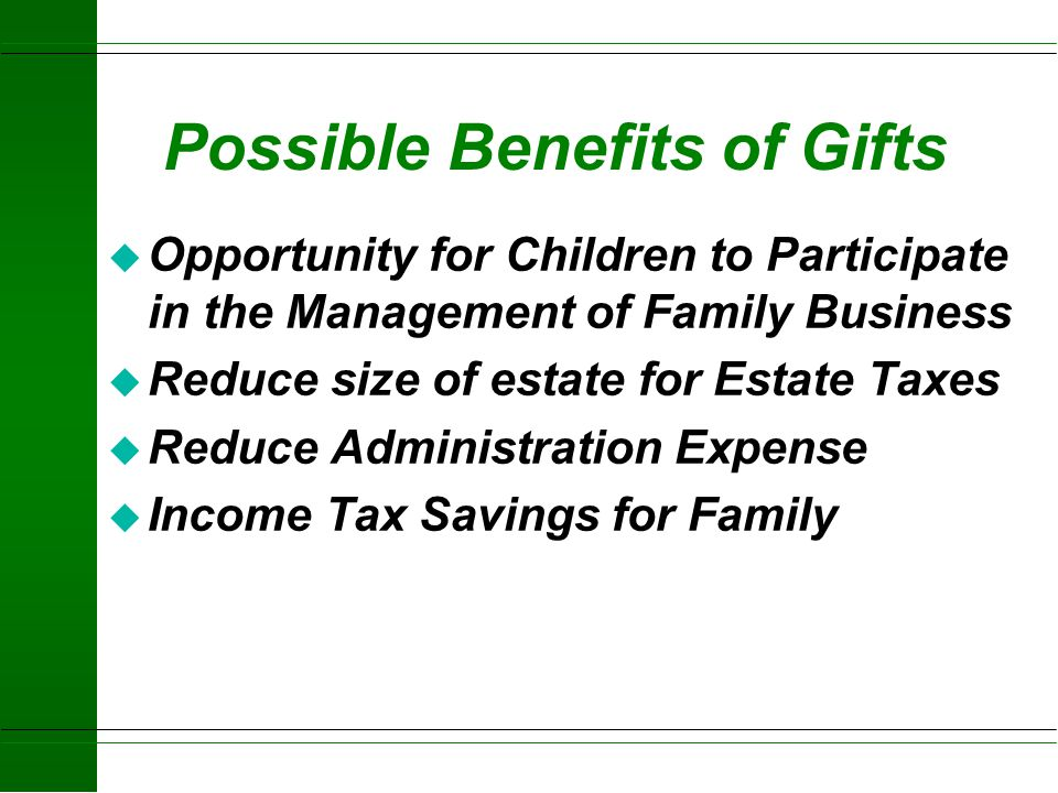 Possible Benefits of Gifts