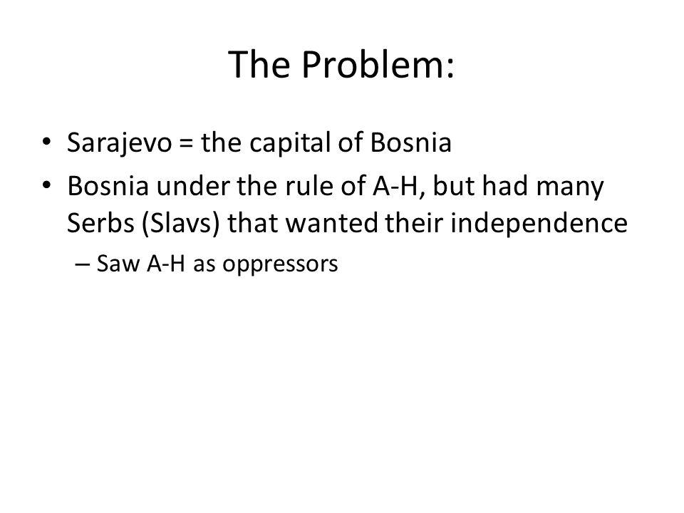 The Problem: Sarajevo = the capital of Bosnia