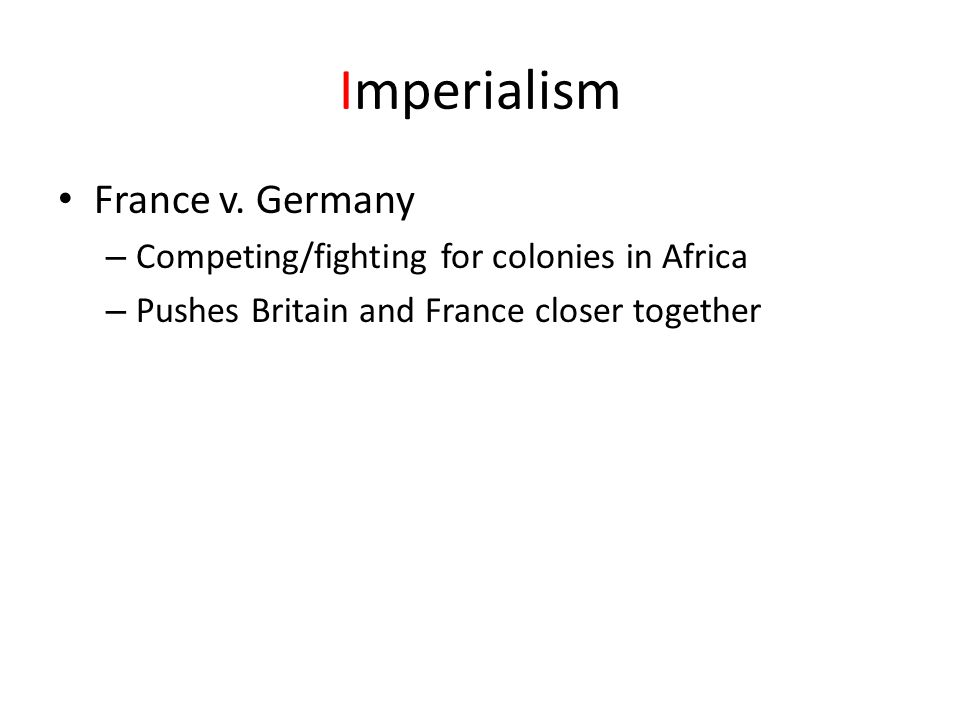 Imperialism France v. Germany