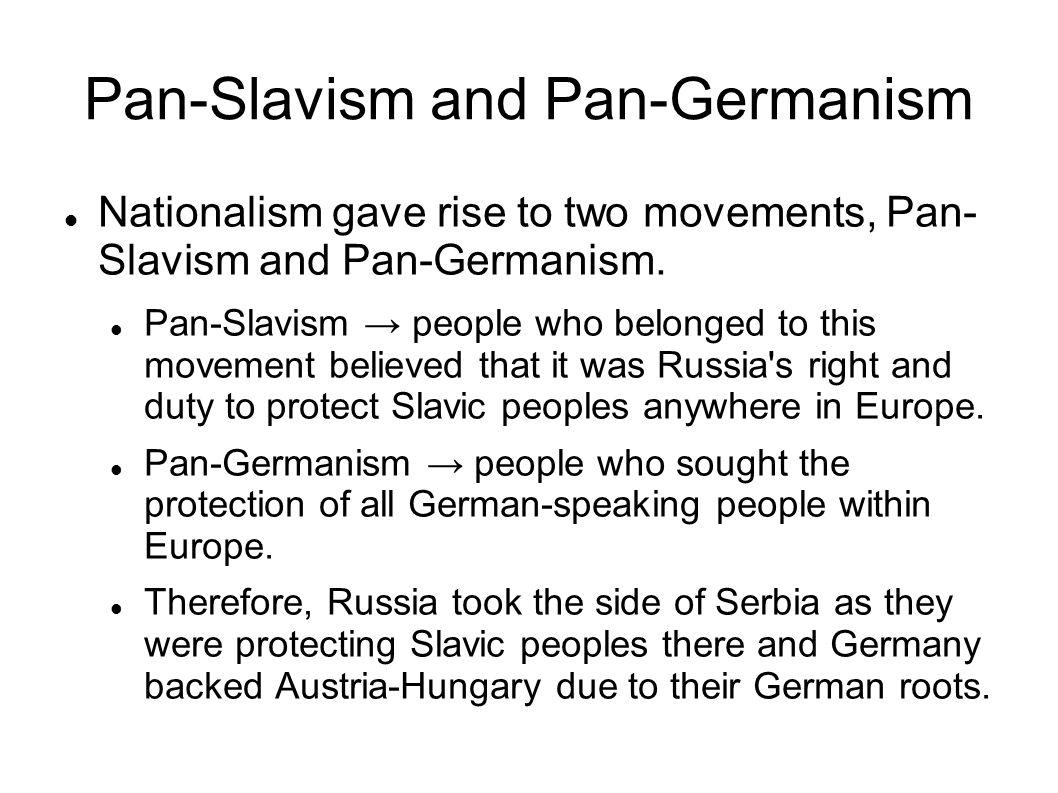 Pan-Slavism and Pan-Germanism