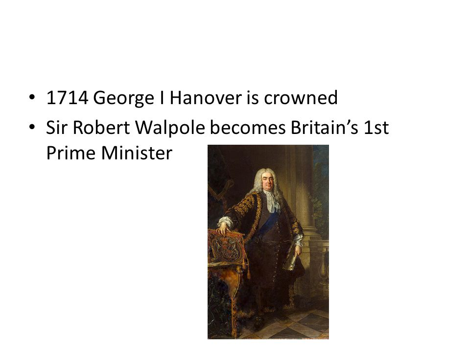 1714 George I Hanover is crowned