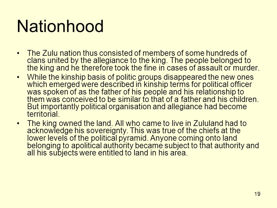 Nationhood