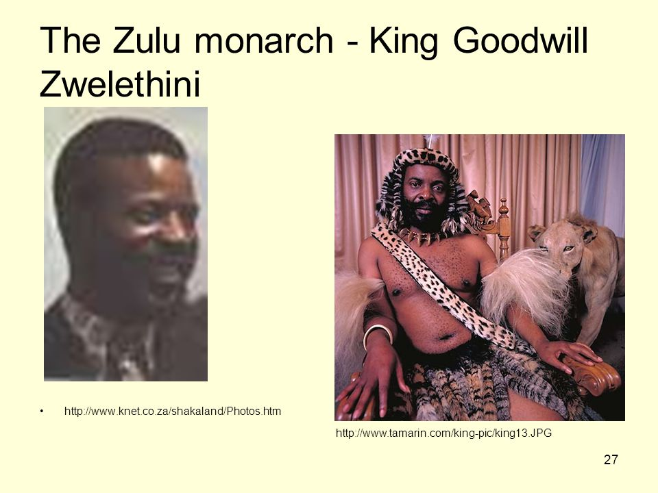 The Zulu monarch - King Goodwill Zwelethini