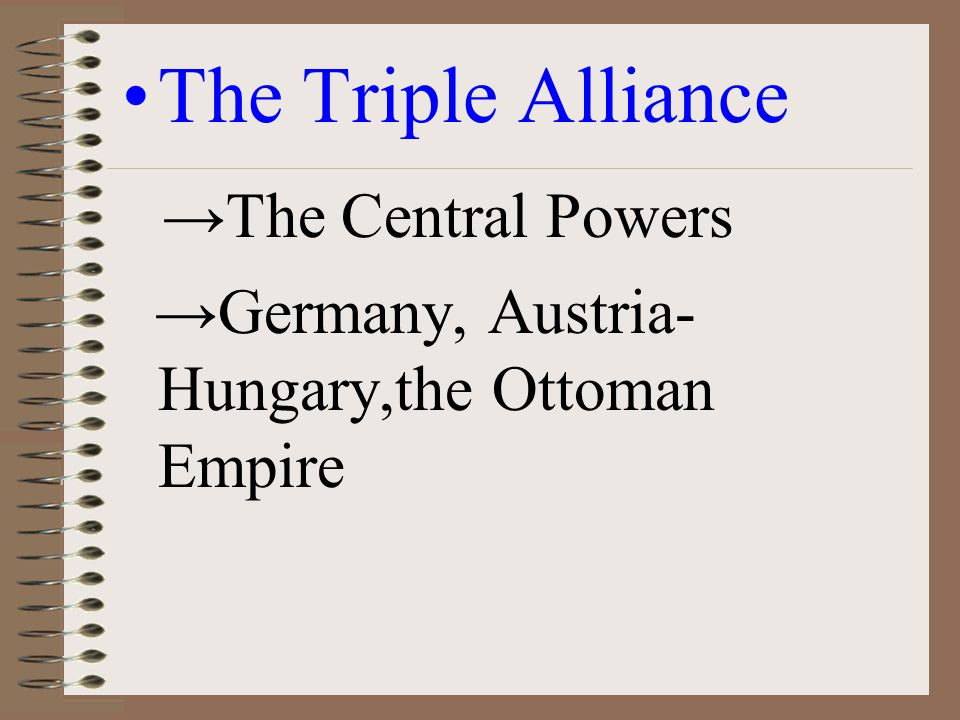 The Triple Alliance →The Central Powers