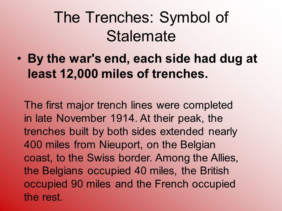 The Trenches: Symbol of Stalemate