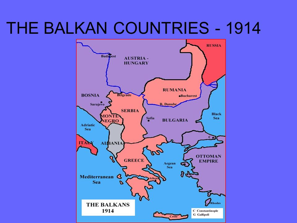 THE BALKAN COUNTRIES - 1914