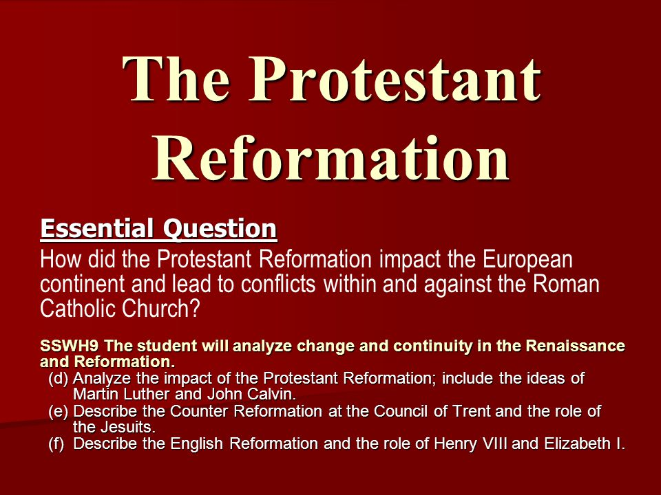 the reformation summary