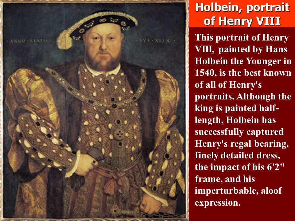 Holbein, portrait of Henry VIII